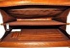 Мужская кожаная папка 4141 рыжая 3