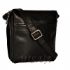 Мужская кожаная сумка 4513 черная 2