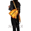 Кожаный городской рюкзак МІС 2533 темное золото 4