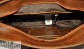 Мужской портфель 4226  рыжий матовой 4