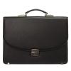 Мужской кожаный портфель 472 черный 4