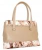 Женская сумка 35454 бежевая с принтом 2