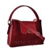 Женская замшевая сумка МIС 0703 бордовая 2
