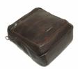 Мужская кожаная сумка 4348 коричневая  4