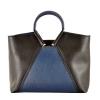 Жіноча сумка 35601 чорна - комбінована 0