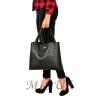 Женская сумка МІС 35694 черная-матовая 6