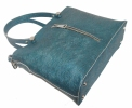 Женская сумка 2521 синяя металик 4