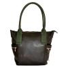 Женская сумка 35586  черная с зеленым 0