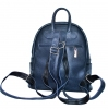 Leather backpack 2523 blue 3