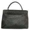 Женская сумка 2527 черная з тиснением 1