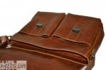 Мужской кожаный портфель 4227 рыжий 5