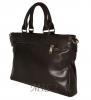 Мужской кожаный портфель 4507 темно - коричневый 4