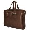 Мужской кожаный портфель 4393 коричневый 3