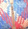 Женская сумка 35457 капучино с цветным принтом 6