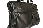 Мужской кожаный портфель 4369 черный 2