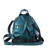 Кожаный городской рюкзак МІС 2533 синий металик 3