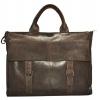 Мужской кожаный портфель 4252 коричневый 0