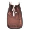 Женская кожаная сумочка МІС 2435 бордовый металик 1
