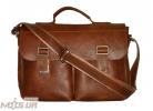 Мужской кожаный портфель 4227 рыжий 3