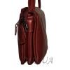 Женская кожаная сумка 2486 бордовая 2