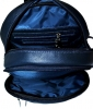 Leather backpack 2523 blue 6