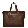 Мужской кожаный портфель 4393 коричневый 0