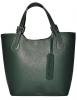 Женская кожаная сумка 19219 зеленая 0