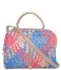 Женская сумка 35457 капучино с цветным принтом 2