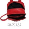 Городской кожаный рюкзак МIС 2636-1 красный 3