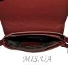 Женская кожаная сумка 2483 бордовая 4