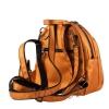 Кожаный городской рюкзак МІС 2533 темное золото 3