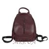 Женский кожаный сумка-рюкзак 2596 бордовый 0