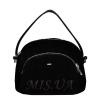 Женская замшевая сумка МІС 0710 черная 0