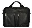 Мужской кожаный портфель-сумка 4368 черный 0