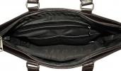 Мужской кожаный портфель 4507 темно - коричневый 5