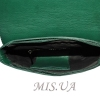 Женская кожаная сумка 2483 зеленая 4