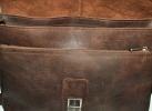 Мужской кожаный портфель 4381 коричневый 5