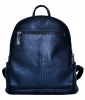 Leather backpack 2523 blue 0