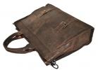 Мужской кожаный портфель 4252 коричневый 4