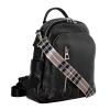 Женский кожаный сумка-рюкзак 2583 черный 2
