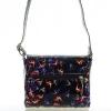 Женская сумка 35419 черная с цветным принтом 2