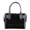 Женская замшевая сумка МІС 0714 черная 0