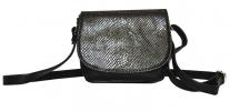 Женская сумка 35441 черная с тиснением 1