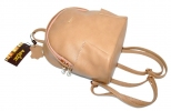 Leather backpack 2517 beige 4