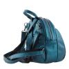 Кожаный городской рюкзак МІС 2533 синий металик 2