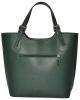 Женская кожаная сумка 19219 зеленая 1