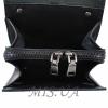 Men's leather bag 4556 is black 5