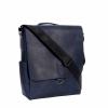 Мужская кожаная сумка Vesson 4626 cиняя 4