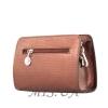 Женская кожаная сумочка МІС 2435 бордовый металик 2