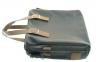 Мужской мягкий портфель 4326 черный с коричневым 7